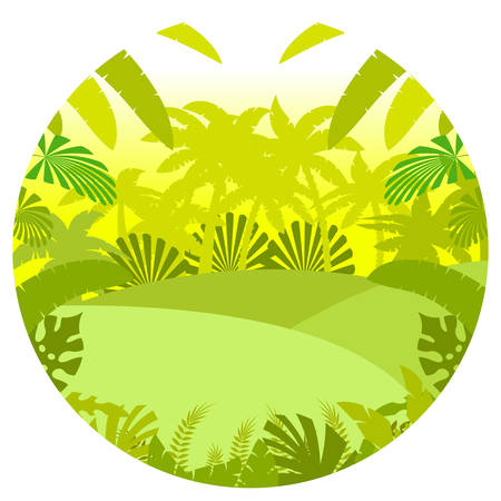 Vector image of the Jungle Flat Background