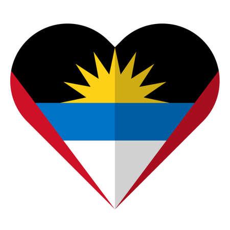 antigua and barbuda: Antigua and Barbuda flat heart flag Illustration