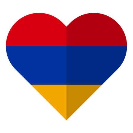 Armenia flat heart flag