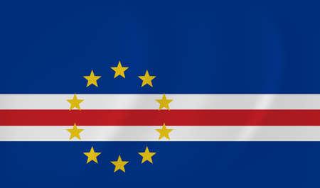 Cape Verde waving flag Illustration
