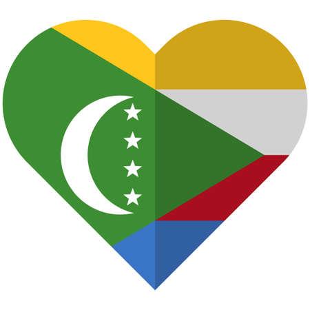 flagged: Comoros flat heart flag