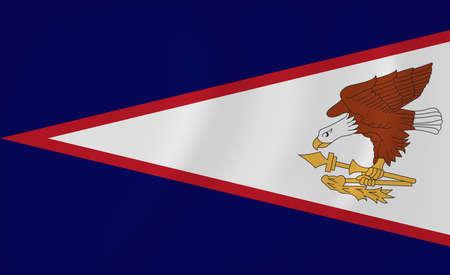 American Samoa waving flag