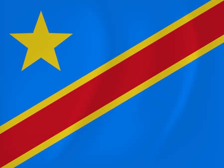 Democratic Republic of Congo waving flag Illustration