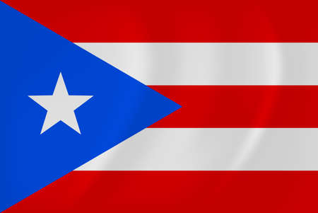 flagged: Vector image of the Puerto-Rico waving flag