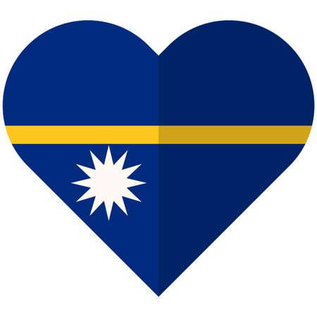 Vector image of the Nauruwaving flat heart flag