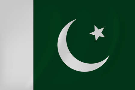 Vector image of the Pakistan waving flag