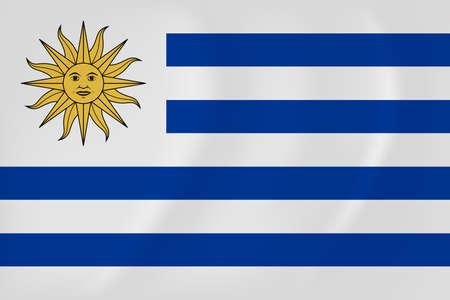 Vector image of the Uruguay waving flag