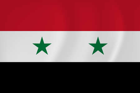 Vector image of the Syria waving flag