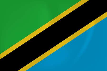 Vector image of the Tanzania waving flag