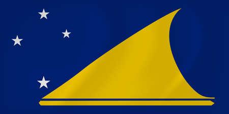 tokelau: Vector image of the Tokelau waving flag Illustration