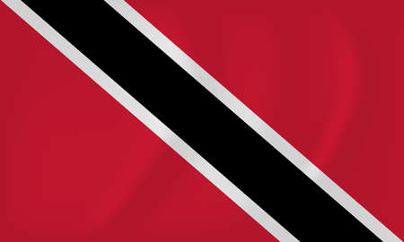 trinidadian: Vector image of the Trinidad and Tobago waving flag