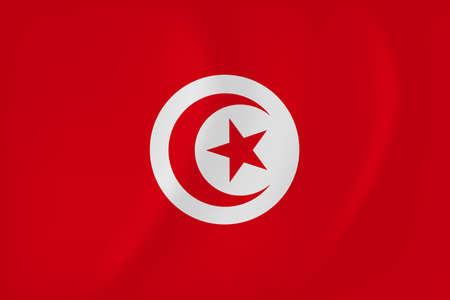 Vector image of the Tunisia waving flag