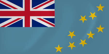 Vector image of the Tuvalu waving flag