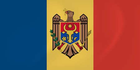 identidad cultural: Imagen del vector de la bandera ondeando Moldavia