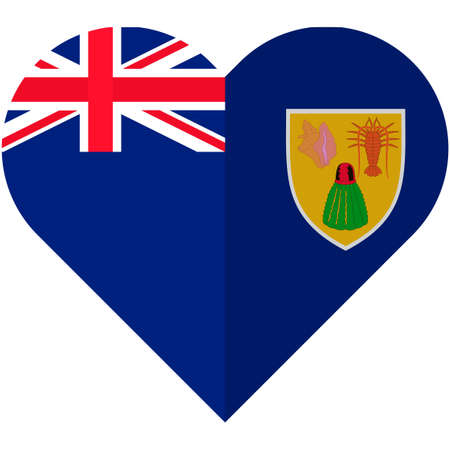 Vector image of the Turks and Caicos heart flag