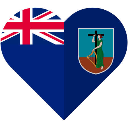 montserrat: Vector image of the Montserrat heart flag