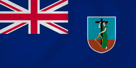 Vector image of the Montserrat waving flag