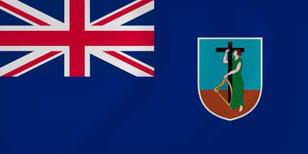 montserrat: Vector image of the Montserrat waving flag