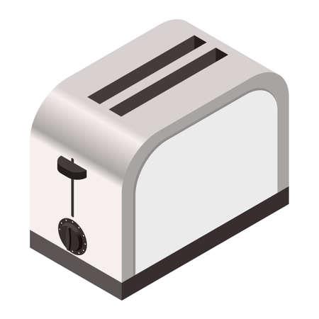Vector beeld van de Isometrisch pictogram van een broodrooster Stock Illustratie