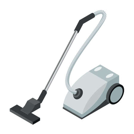 Vector image of the Isometric icon of a vacuum cleaner