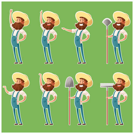 agrarian: Set of farmer icons4 Illustration