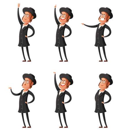 hasid: Set of jew cartoon icons