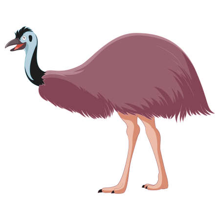 emu: Cartoon smiling Emu