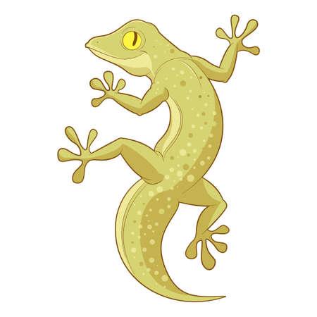 salamandre: Cartoon Singer Gecko