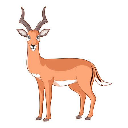 Cartoon smiling Impala