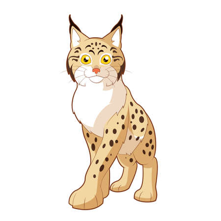 Cartoon smiling Lynx