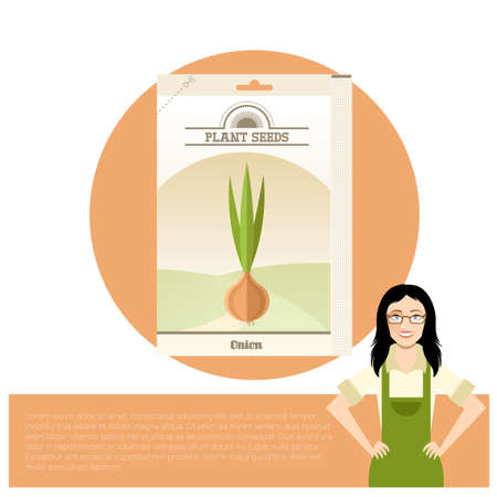 Pack of Onion seeds icon Illustration