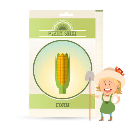 Pack of Corn seeds icon
