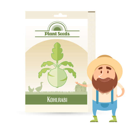 brassica: Pack of Kohlrabi seeds icon