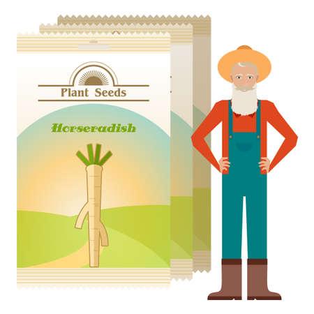 handful: Pack of Horseradish seeds icon Illustration