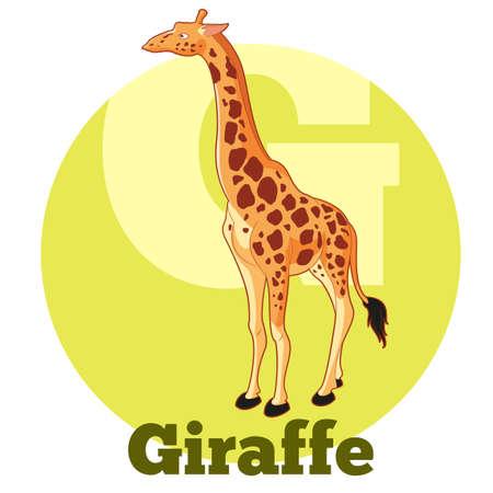 g giraffe: Vector Image of the ABC Cartoon Giraffe