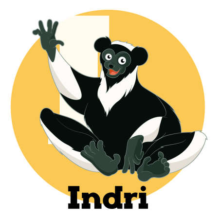 Vector image of the ABC Cartoon Indri