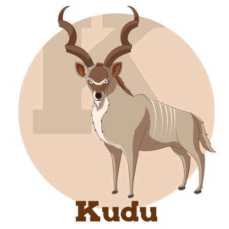 Vector image of the ABC Cartoon Kudu
