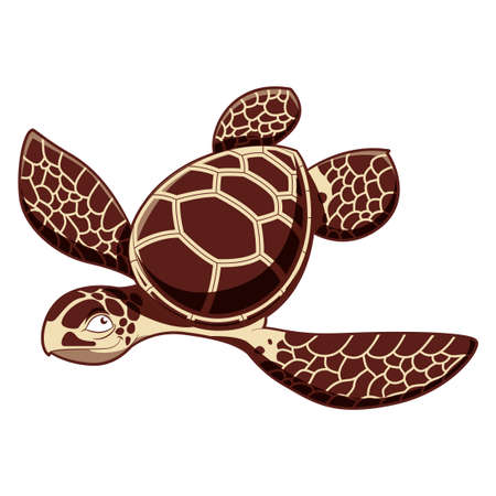 funny pictures: Vector image of the Catroos sea turtle Illustration