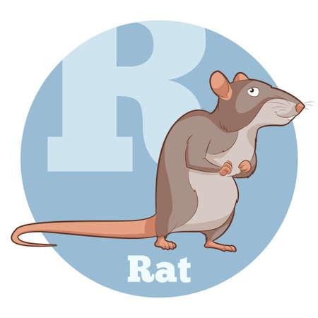 Vector image of the ABC Cartoon Rat Illustration