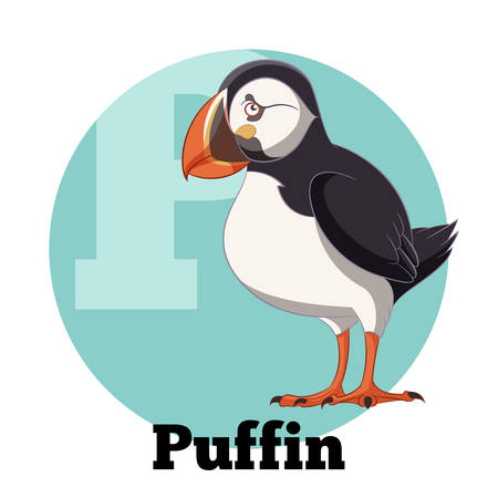 ABC Cartoon Puffin Illustration