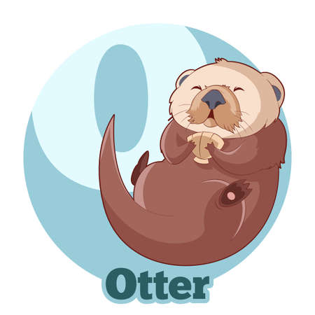 Vector image of the ABC Cartoon Otter