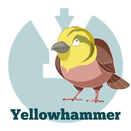Vector image of the ABC Cartoon Yellowhammer