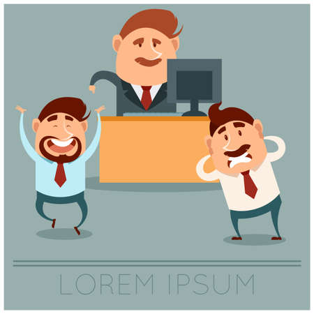 Vector image of the Business concept about Boss choice Illustration