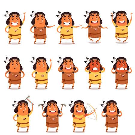 Set of indian flat icons