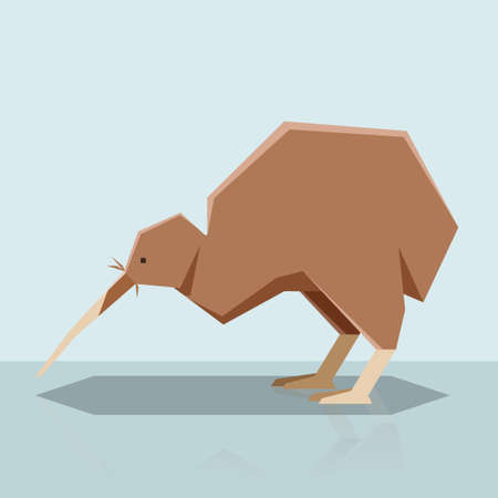 Flat design Kiwi Vector illustration.