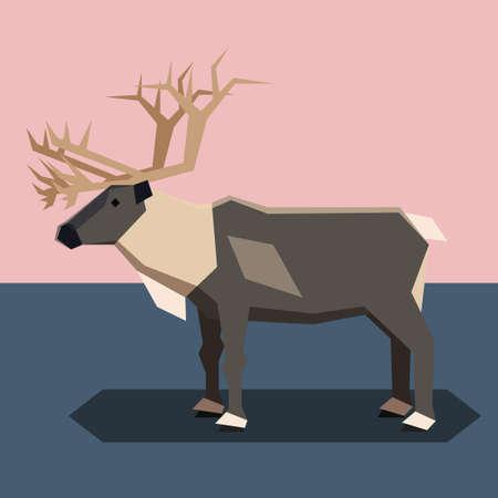 Flat design Reindeer