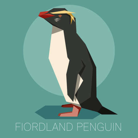 Flat Fiordland Penguin Stock Illustratie