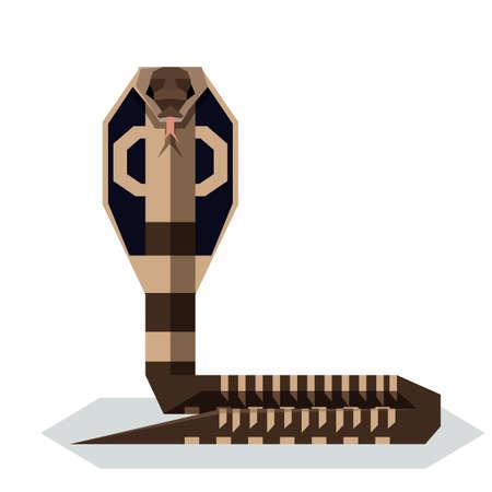 Vector image of the Flat geometric King Cobra