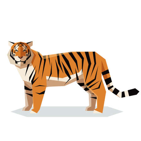 Vector image of the Flat geometric Tiger