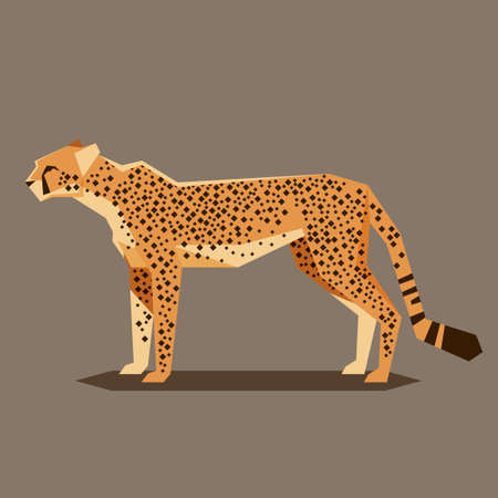 Vector image of the Flat geometric Cheetah